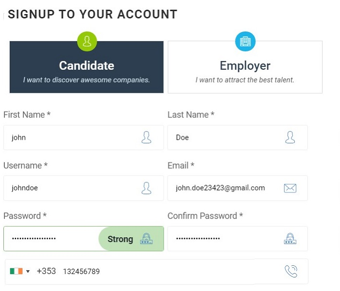 Tutorial : Register as a Candidate with forex jobs